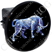 Tow Hitch Cover - Zodiac - Taurus - Blue/ Black
