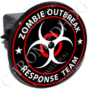 Tow Hitch Cover - Zombie Outbreak - Red/ White