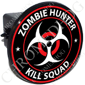 Tow Hitch Cover - Zombie Hunter - Red/ White