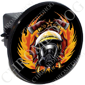 Tow Hitch Cover - Fire Fighter - Black NT