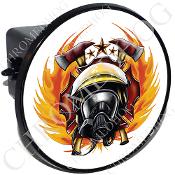 Tow Hitch Cover - Fire Fighter - White NT
