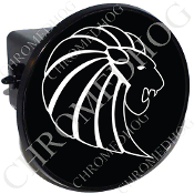 Tow Hitch Cover - Zodiac - Leo - W/B