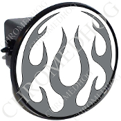 Tow Hitch Cover - Flame - Gray/ White