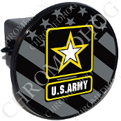 Tow Hitch Cover - Army Logo - Ghost Flag