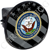 Tow Hitch Cover - USN Navy Dept - Ghost Flag