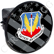 Tow Hitch Cover - USAF TAC Logo - Ghost Flag