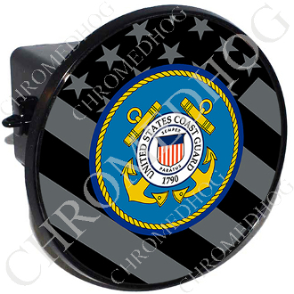 Tow Hitch Cover - Coast Guard - Ghost Flag