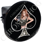 Tow Hitch Cover - Pin Up Spade - Army - Black/Black