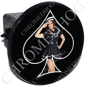 Tow Hitch Cover - Pin Up Spade - Navy - Black/Black