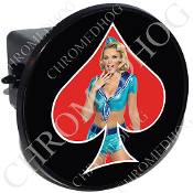 Tow Hitch Cover - Pin Up Spade - Sailor - Red/Black