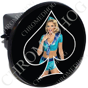Tow Hitch Cover - Pin Up Spade - Sailor - Black/Black