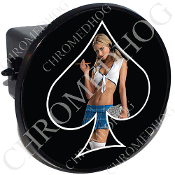 Tow Hitch Cover - Pin Up Spade - School - Black/Black