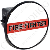 Tow Hitch Cover - Red Line - Fire Fighter - White