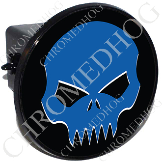 Tow Hitch Cover - Evil Skull - Blue/Black