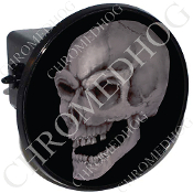 Tow Hitch Cover - Real Gray Skull - Black