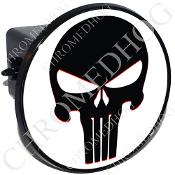 Tow Hitch Cover - Punisher Skull - Black/White