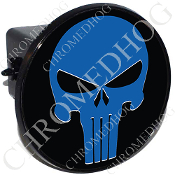 Tow Hitch Cover - Punisher Skull - Blue/Black