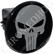 Tow Hitch Cover - Punisher Skull - Gray/Black
