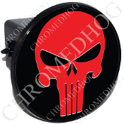 Tow Hitch Cover - Punisher Skull - Red/Black