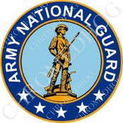 Premium Round Decal - Army National Guard