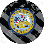 Premium Round Decal - Army Department - Ghost Flag