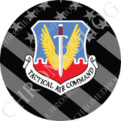 Premium Round Decal - USAF TAC - Ghost Flag