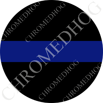 Premium Round Decal - Blue Line