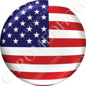 Premium Round Decal - Flag - USA - 1