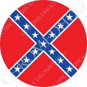 Premium Round Decal - Flag - Rebel