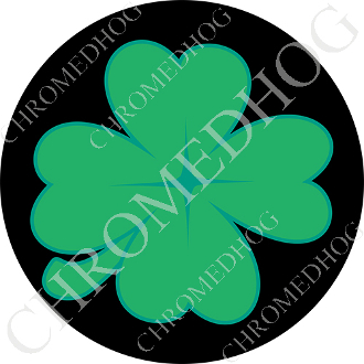 Premium Round Decal - Clover - Black