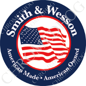 Premium Round Decal - Smith & Wesson