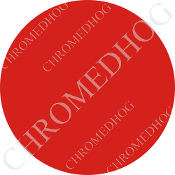 Premium Round Decal - Solid - Red