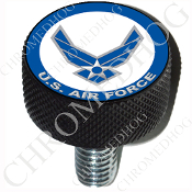Harley Custom Seat Bolt - L KN Black Billet - USAF Air Force L1