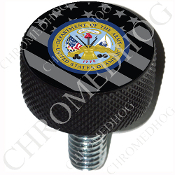 Harley Custom Seat Bolt - L KN Black Billet - Army Dept - G Flag