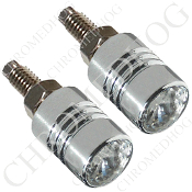 Chrome License Bolts w/ Clear Swarovski Crystals - Set of 2