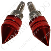 Pike Spike License Frame Bolts - Red - Set of 2