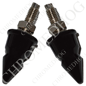 Impaler Spike License Frame Bolts - Black - Set of 2