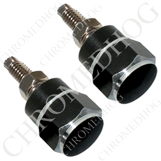 Hex License Plate Frame Bolts - Black - Set of 2