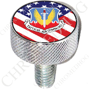 Harley Custom Seat Bolt - L KN Chrome Billet - USAF TAC US Flag