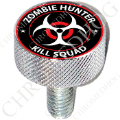 Harley Custom Seat Bolt - L KN Chrome Billet - Zombie Hunter R/W