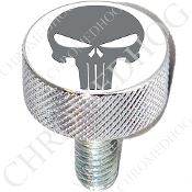 Harley Custom Seat Bolt - L KN Chrome Billet - Punisher - G/W