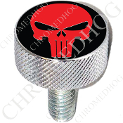 Harley Custom Seat Bolt - L KN Chrome Billet - Punisher - R/B