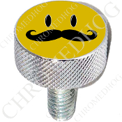 Harley Custom Seat Bolt - L KN Chrome Billet - Smiley 'Stache