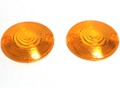 Low Profile Amber Turn Signal Lenses - Set of 2