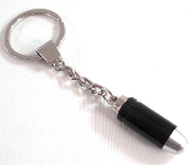 Chrome Key Chain - Bullet - Black