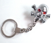 Chrome Key Chain - Skull & Bones - Chrome