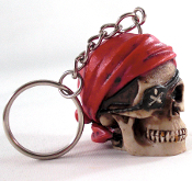 Custom Skull Key Chain - Pirate