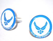 Polished Billet License Frame Bolts - USAF Air Force - 2