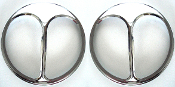 "7"" Headlight Cover - Chrome Cat's Eye - Pair"