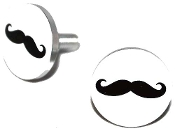 Polished Billet License Frame Bolts - 'Stache - Set of 2